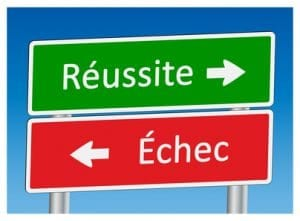 """Panneaux """"Réussite"""" et """"Echec"""""""